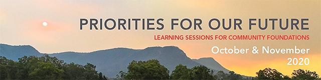 Australian Community Philanthropy webinars: Priority Areas for Our Future